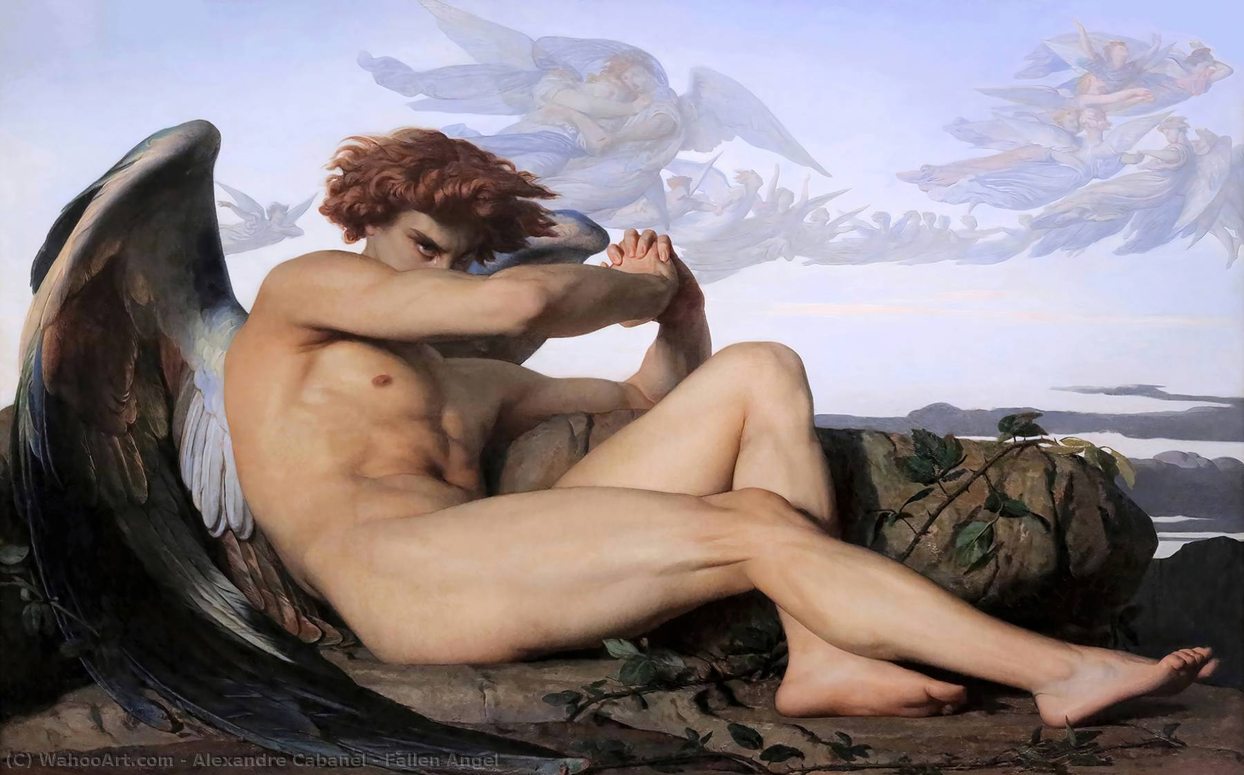 Fallen Angel, Oil On Canvas by Alexandre Cabanel (1875-1889, France)