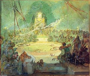 Alfons Maria Mucha - Age of Love