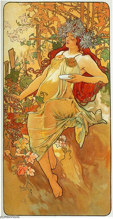 Autumn 1896, Oil by Alphonse Maria Mucha (1860-1939, Czech ...