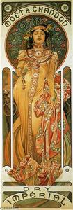 Alphonse Maria Mucha - Moet - Chandon dry Imperial