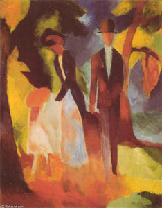August Macke - People by a Blue Lake