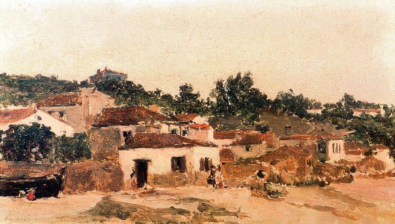 Casa sobre la playa, Oil by Aureliano De Beruete Y Moret (1876-1922, Spain)