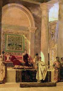 Jean-Joseph Constant (Benjamin-Constant) - The Throne Room In Byzantium - (Famous paintings)