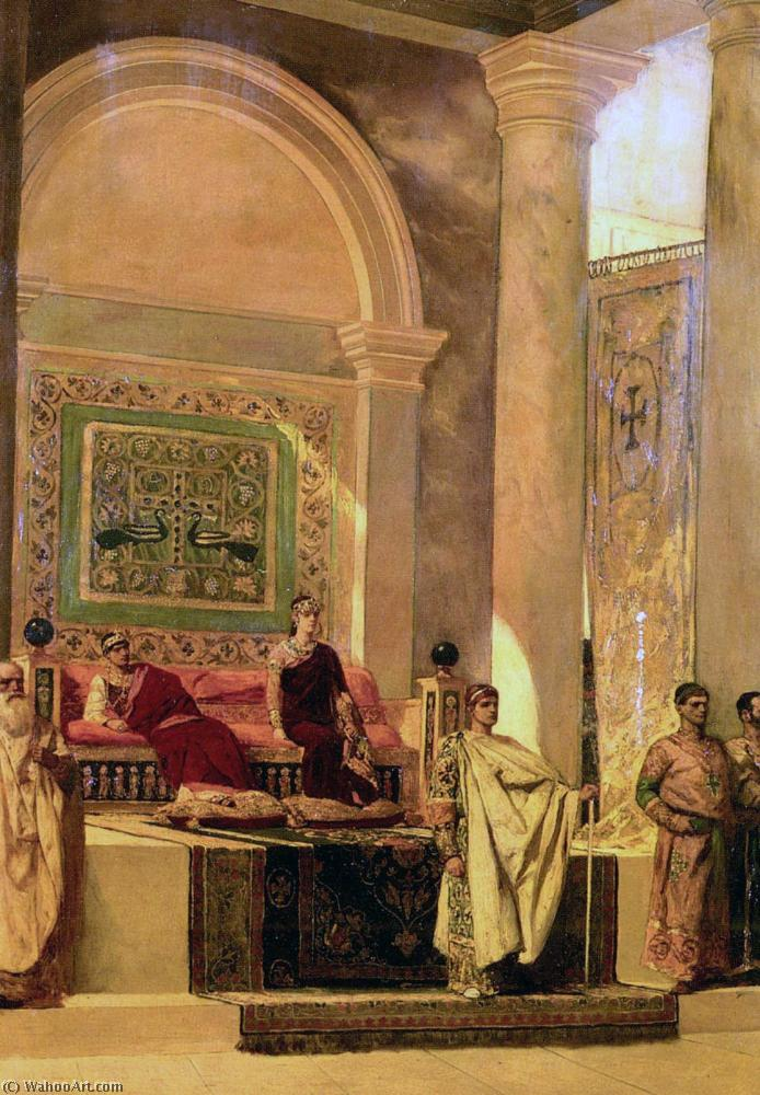 The Throne Room In Byzantium, Oil by Jean-Joseph Constant (Benjamin-Constant) (1845-1902, France)