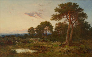 Benjamin Williams Leader - EVENING ON THE SURREY WOLDS