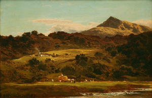 Benjamin Williams Leader - MOEL SIABOD FROM THE LLUGWY BELOW CAPEL CURIG