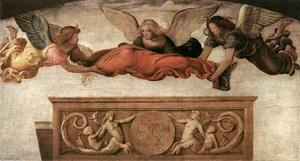 Bernardino Luini - St Catherine Carried to her Tomb by Angels