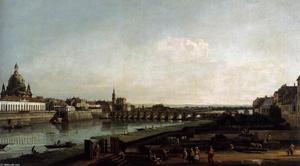 Bernardo Bellotto - Dresden from the Right Bank of the Elbe, above the Augustusbrücke