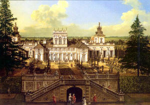 Bernardo Bellotto - Wilanów Palace seen from the garden