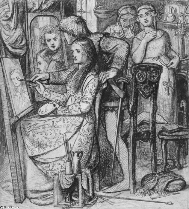 A Parable of Love, 1850 by Dante Gabriel Rossetti (1828-1882, United Kingdom) | Paintings Reproductions Dante Gabriel Rossetti | WahooArt.com