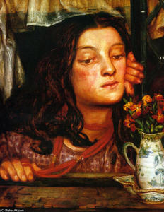 Dante Gabriel Rossetti - Girl at a Lattice