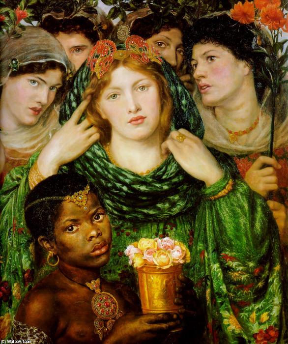Order Reproductions | The Beloved, 1866 by Dante Gabriel Rossetti (1828-1882, United Kingdom) | WahooArt.com