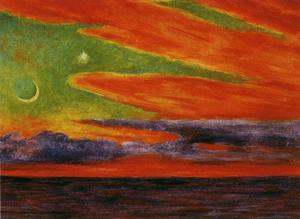 Diego Rivera - Evening Twilight at Acapulco