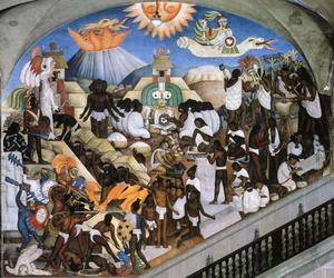 Diego Rivera - he History of Mexico - The Ancient Indian World