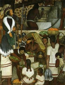 Diego Rivera - History of Cuernavaca and Morelos. Building the Cortes Palace