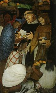 Diego Rivera - History of Cuernavaca and Morelos. The New Religion and the Inquisition