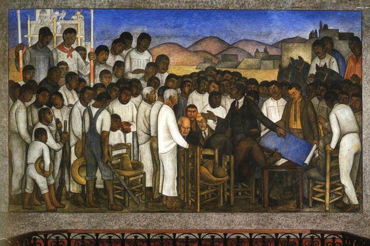 Partition of the Land by Diego Rivera (1886-1957, Mexico) |  | WahooArt.com