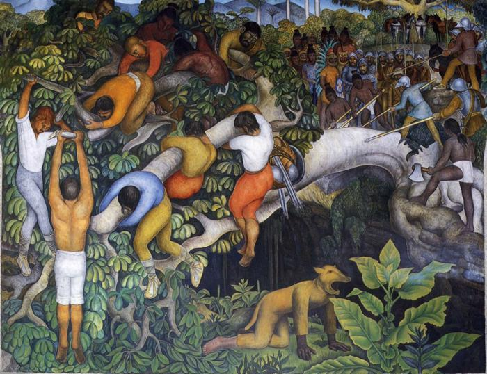The history of cuernavaca and morelos crossing the for Diego rivera mural paintings