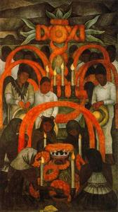 Diego Rivera - The Sacrificial Offering Day of the Dead