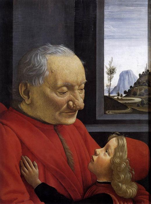 An Old Man and His Grandson, 1490 by Domenico Ghirlandaio (1449-1494, Italy) | Art Reproduction | WahooArt.com