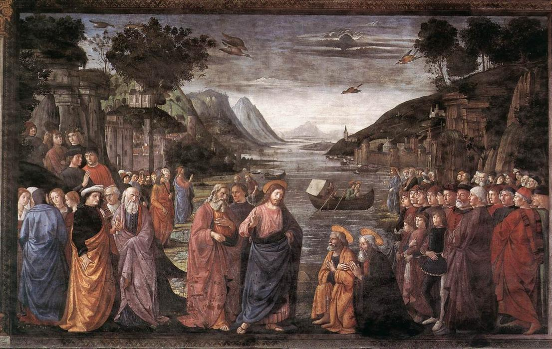Calling of the First Apostles by Domenico Ghirlandaio (1449-1494, Italy) | Oil Painting | WahooArt.com