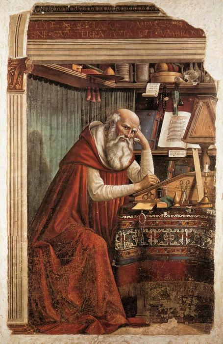 St. Jerome, 1480 by Domenico Ghirlandaio (1449-1494, Italy) | Oil Painting | WahooArt.com