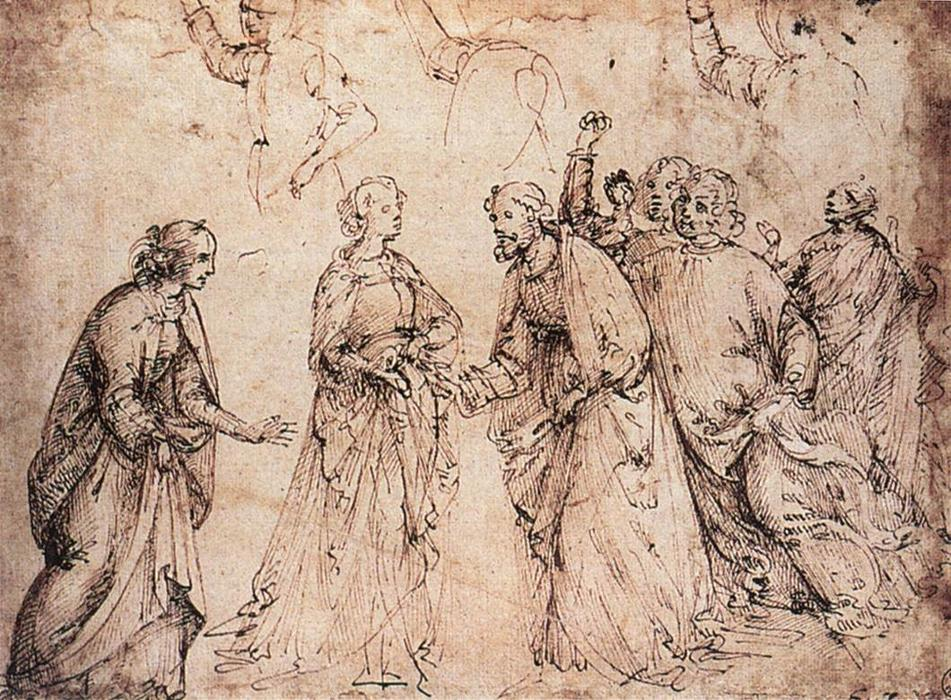 Study, 1486 by Domenico Ghirlandaio (1449-1494, Italy) | Museum Quality Reproductions | WahooArt.com