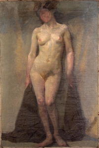 Dora De Houghton Carrington - Standing female nude (recto)