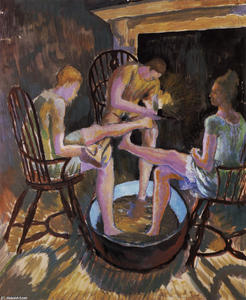 Dora De Houghton Carrington - The Feetbathers