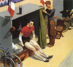 Edward Hopper - French Six Day Bicycle Racer