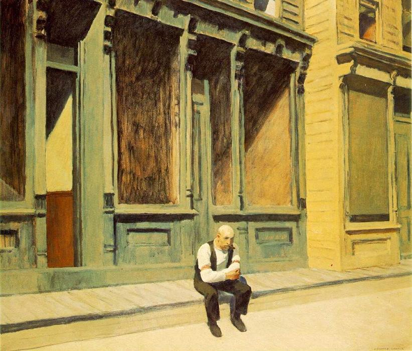 Sunday, Oil On Canvas by Edward Hopper (1931-1967, United States)