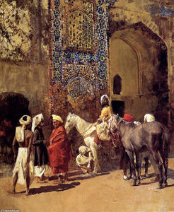 Edwin Lord Weeks - Blue-Tiled Mosque At Delhi, India