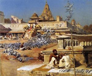 Edwin Lord Weeks - Feeding the Sacred Pigeons, Jaipur