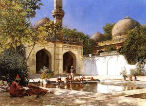 Edwin Lord Weeks - Figures in the Courtyard of a Mosque