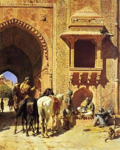 Edwin Lord Weeks - Gate of the Fortress at Agra, India