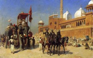 Edwin Lord Weeks - Great Mogul and his Court Returning from the Great Mosque at Delhi, India