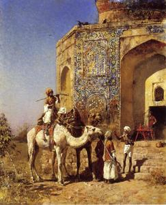 Edwin Lord Weeks - Old Blue-Tiled Mosque, Outside of Delhi, India