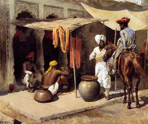 Edwin Lord Weeks - Outside an Indian Dye House