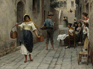 Eugene De Blaas - Catch of the Day