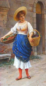 Eugene De Blaas - The Fruit Seller