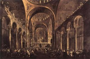 Francesco Lazzaro Guardi - Doge Alvise IV Mocenigo Appears to the People in St Mark's Basilica in 1763