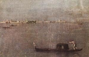Francesco Lazzaro Guardi - Gondola in the Lagoon