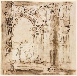 Francesco Lazzaro Guardi - Sketch of the Labyrinth of the Villa Pisani