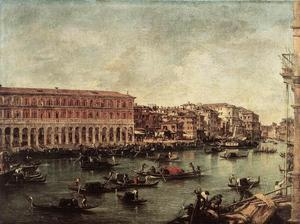 Francesco Lazzaro Guardi - The Grand Canal at the Fish Market (Pescheria)