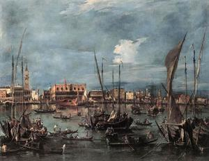 Francesco Lazzaro Guardi - The Molo and the Riva degli Schiavoni from the Bacino di San Marco