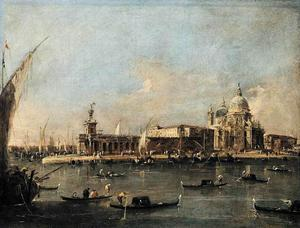 Francesco Lazzaro Guardi - The Punta di Dogana