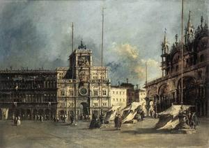 Francesco Lazzaro Guardi - The Torre del'Orologio