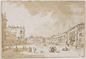 Francesco Lazzaro Guardi - View of Campo San Polo