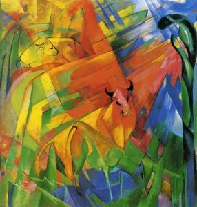 Franz Marc - Animals in Landscape (aka Painting with Bulls)