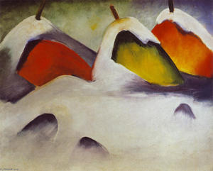 Franz Marc - Stooks in the Snow